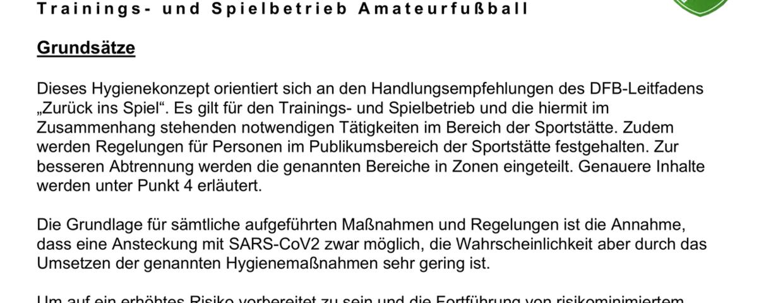 Hygienekonzept FC Besseringen
